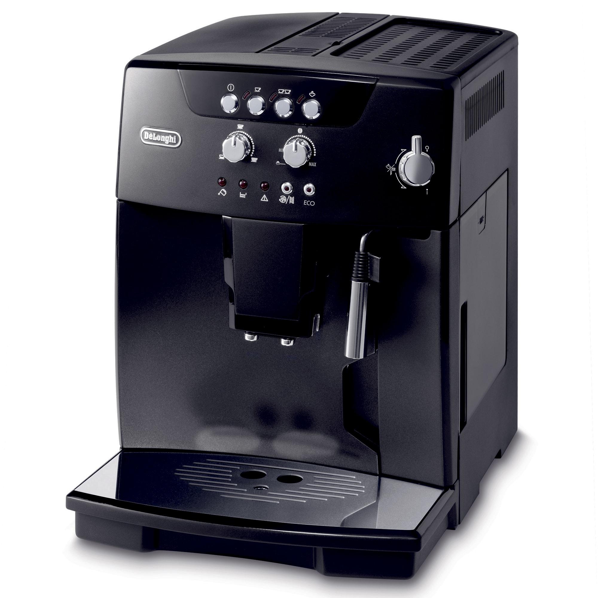 Fuldautomatisk espressomaskine med indbygget mælkesteamer