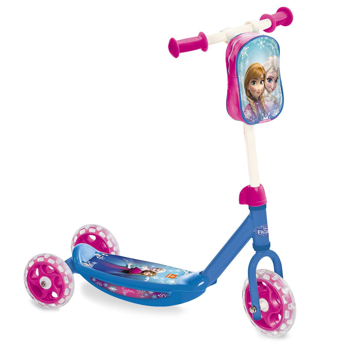Løbehjul med tre hjul, så små prinsesser nemmere kan holde balancen
