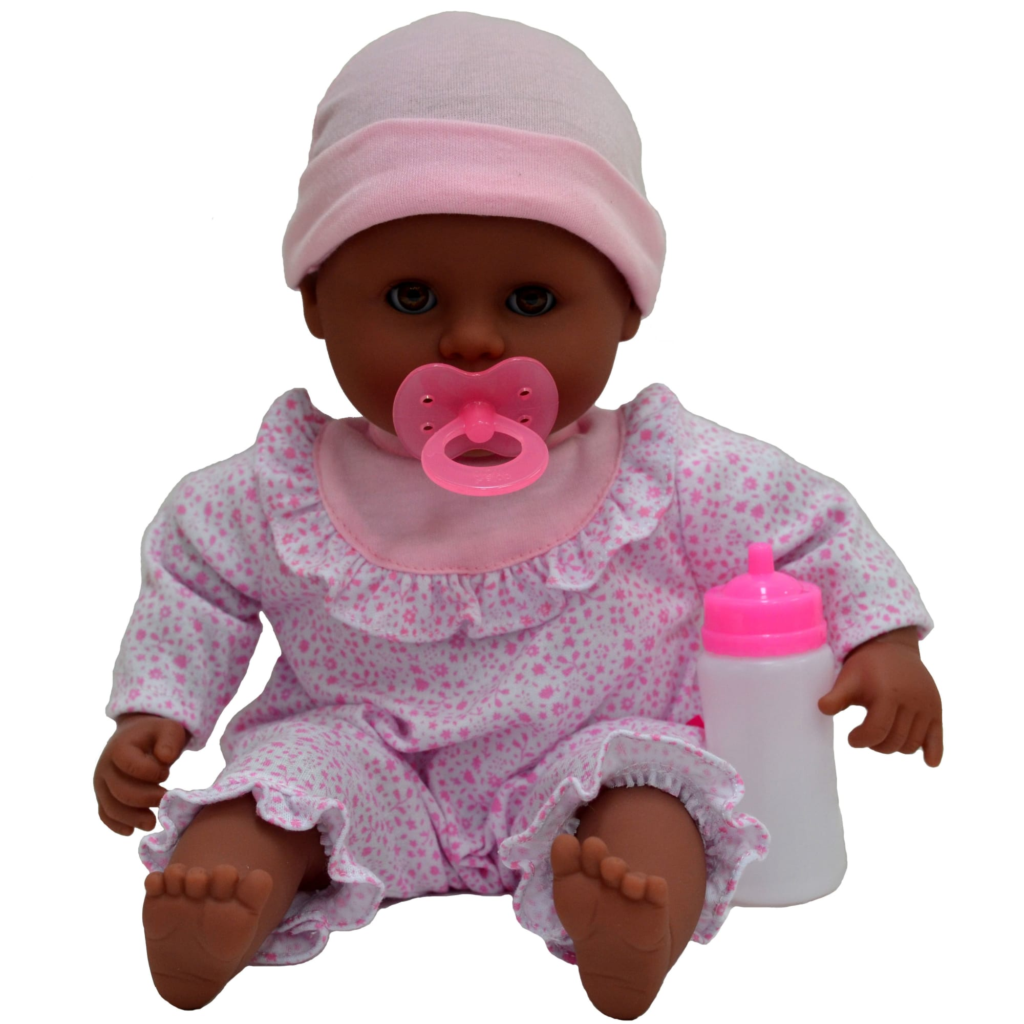 H 38 cm - Dukke med blød krop - Inkl. sutteflaske og sut