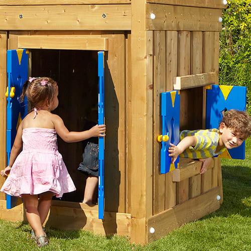 Dør og vindue til Jungle Gym legetårne med en højde på 125 cm
