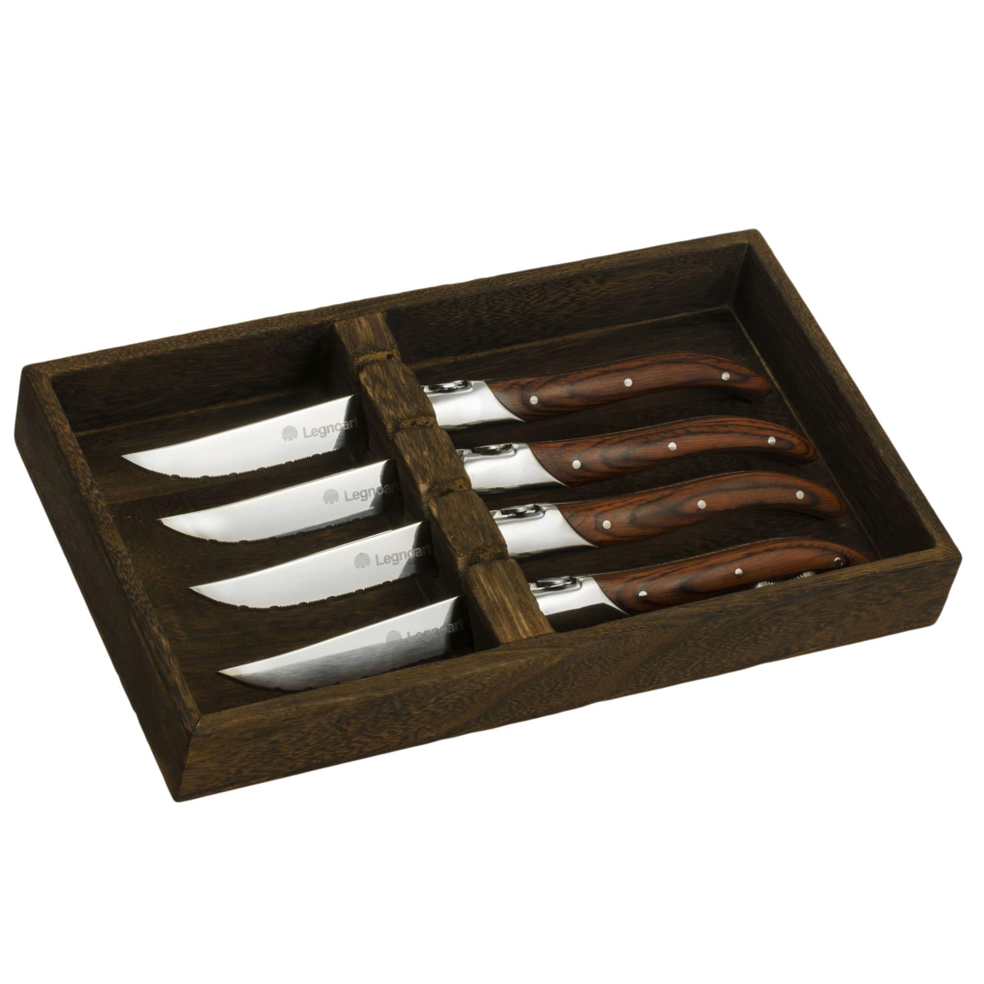 4 knive i trækasse