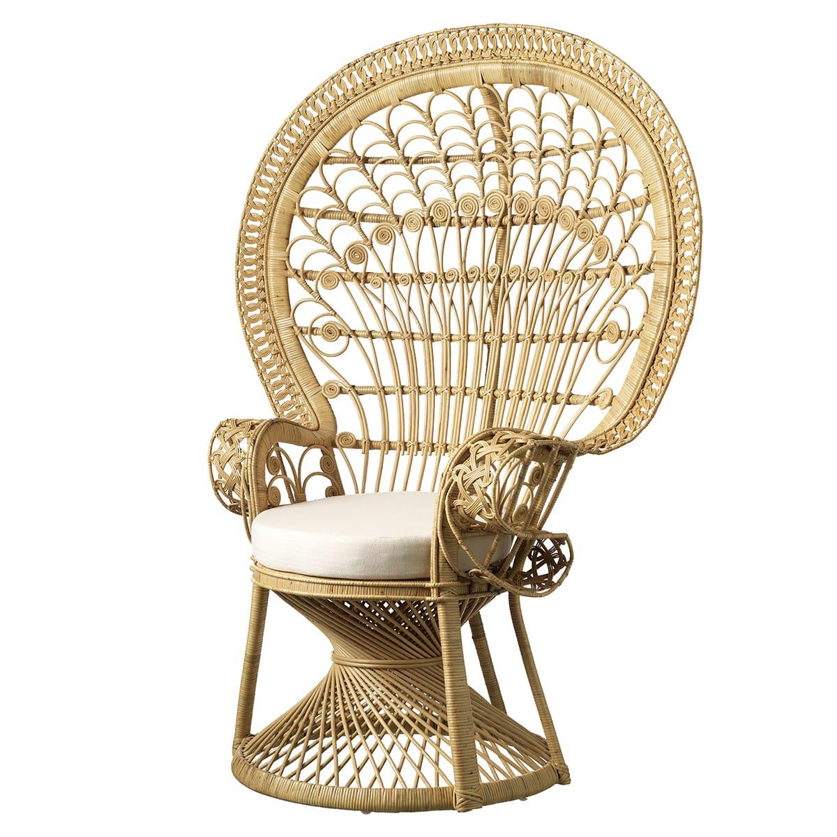 Inkl. siddepude - Lavet i dekorativt rattan