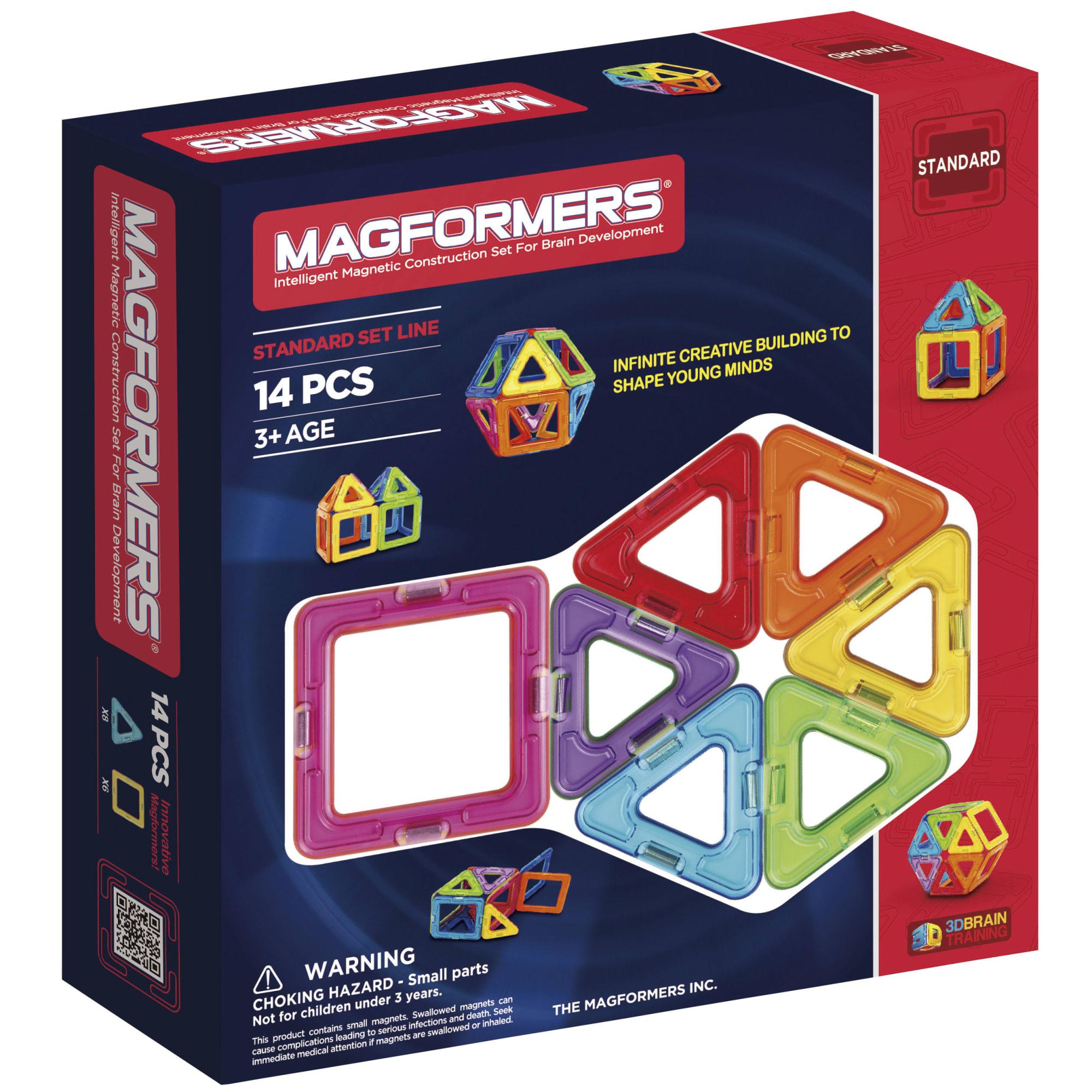 Kreativt magnetisk legetøj - Byg fx en bold eller et hus i 3D