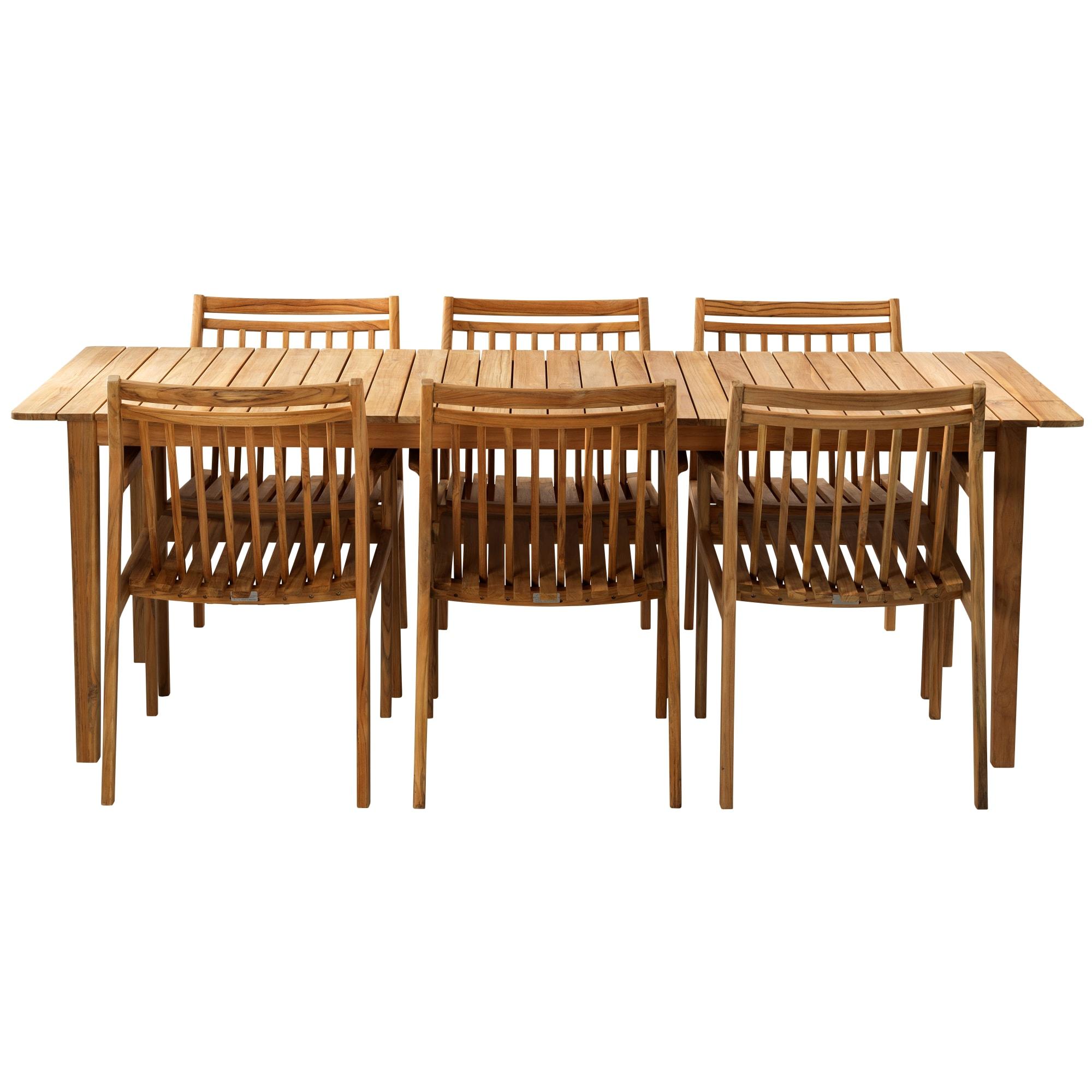 FDB Møbler - Udtræksbord og 6 stole i teak