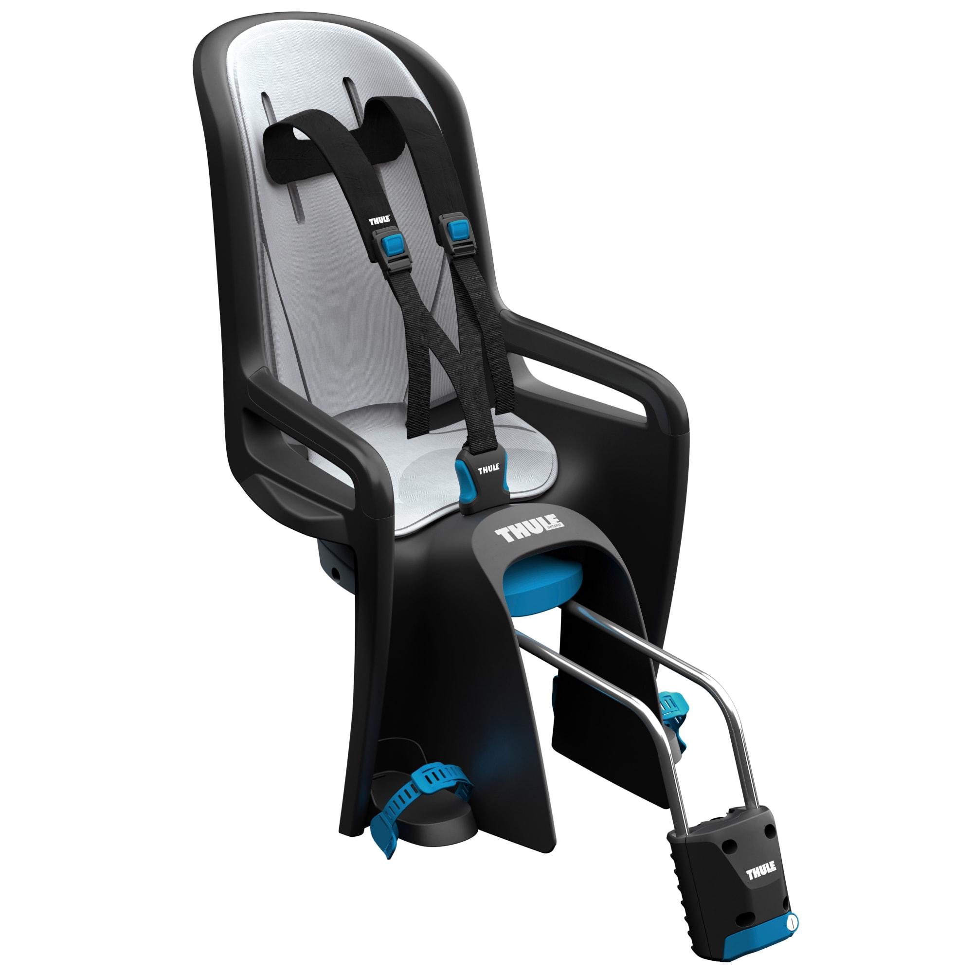 Med quick release - Justerbart sæde, fodstøtter og 3-punktssele
