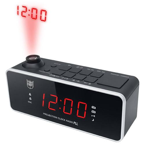 Clockradio med projektion - Sort